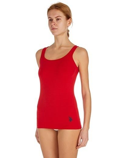 U.S. Polo Assn. Kadın Sporcu Atlet Kırmızı